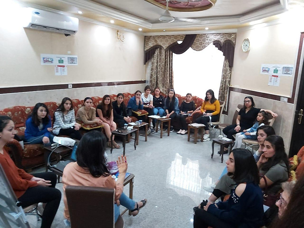 Survivors in training session with Yazda Team