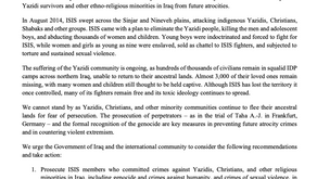 The Sixth Annual Commemoration of the Yazidi Genocide: Joint Statement by Amal Clooney and Yazda