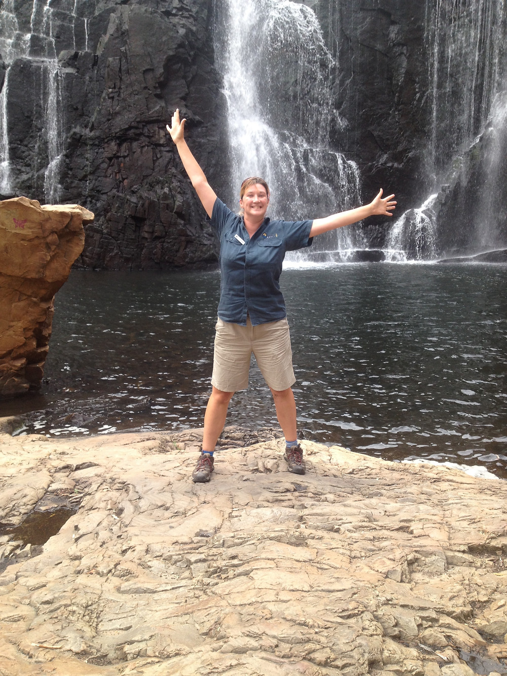 Lizzie Guiding in the Grampians