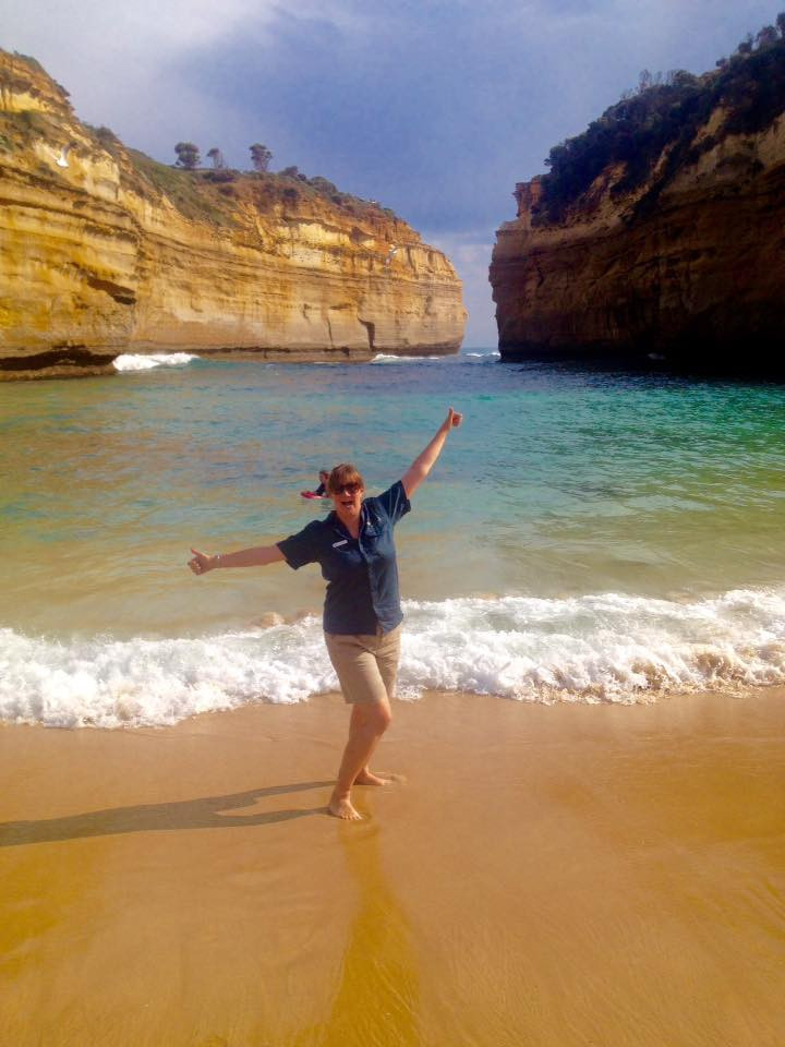Lizzie guiding the Great Ocean Road.