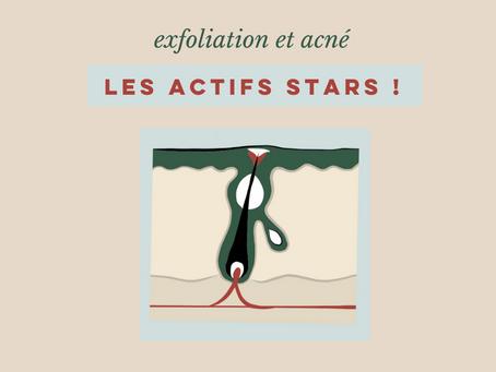 exfoliation et acné