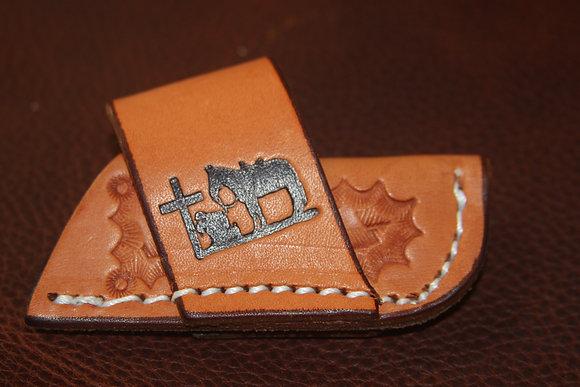 Slant Side Mount Basket Stamp - Praying Cowboy