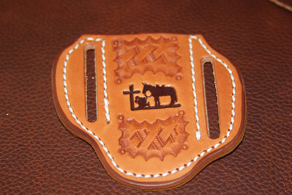 Small Pancake Slant Praying Cowboy