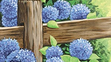 Floral Country Fence