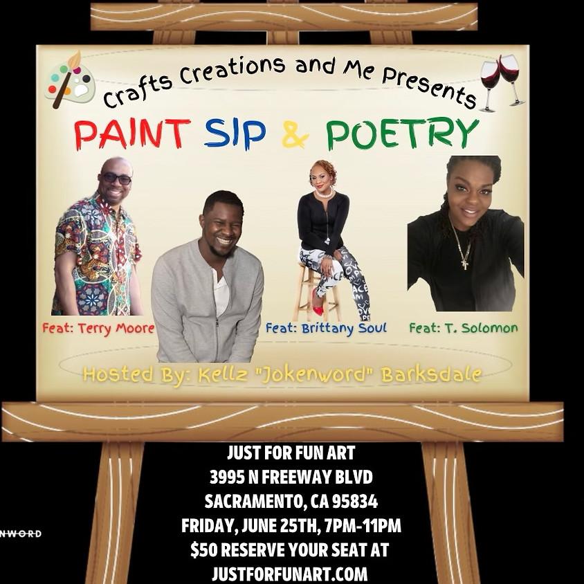 Paint Sip and Poetry- Spoken Word 6/25/21