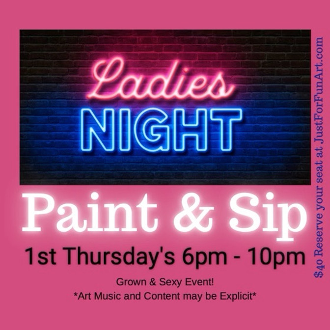 Ladies Night Sip and Paint 6/3/21
