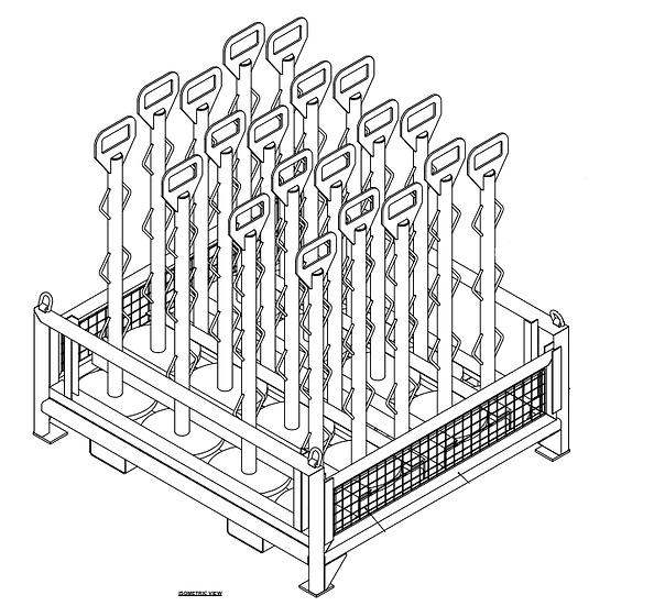 Heavy Duty Temporary Bollard Fencing Storage Pallet
