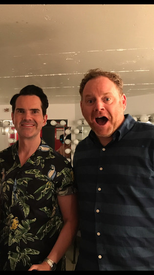 Backstage at JFL with Jimmy Carr