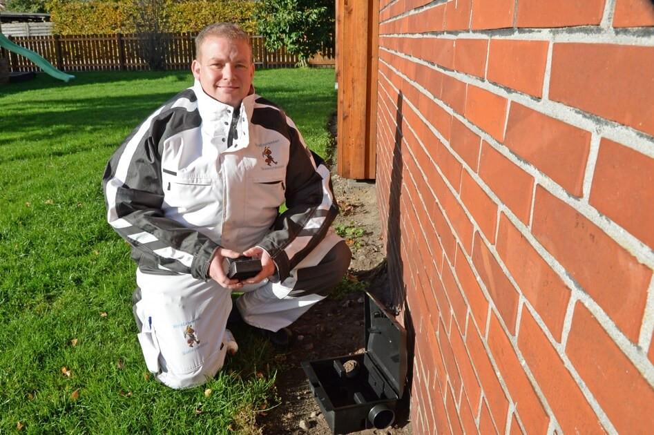 Thomas Viborg beskytter Vejen Kommune mod rotter med intelligente og giftfrie rottefælder.