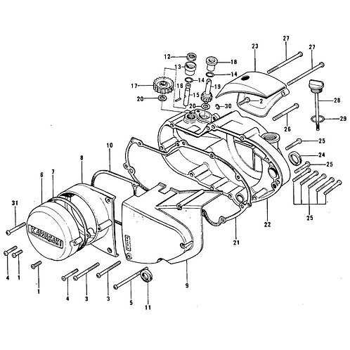 Kawasaki 750 H2 Screw Kits