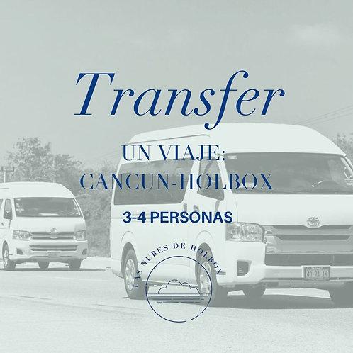 Transportación Cancún-Holbox para 3 ó 4 personas