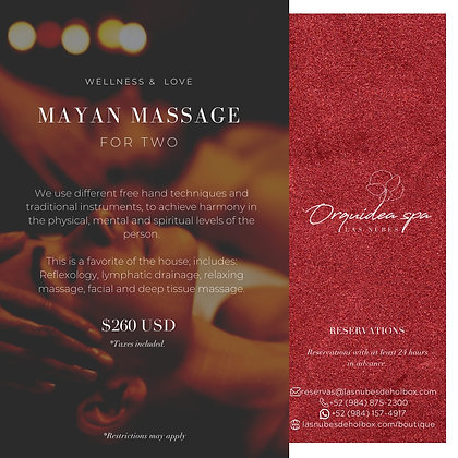 Mayan Massage for Two