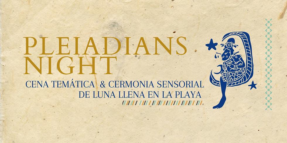 Noche Pleyadiana: Cena temática y Experiencia sensorial de Luna llena en la playa