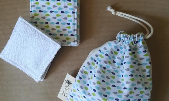 Lingettes néttoyantes lavables