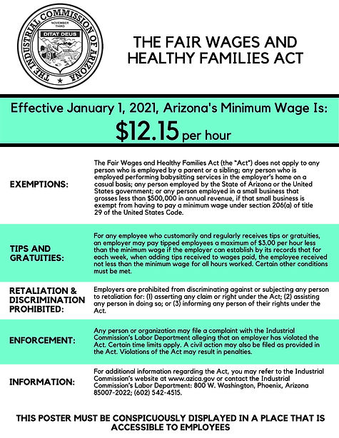 THE FAIR WAGES AND HEALTHY FAMILIES ACT