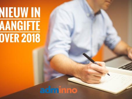 NIEUW IN AANGIFTE OVER 2018