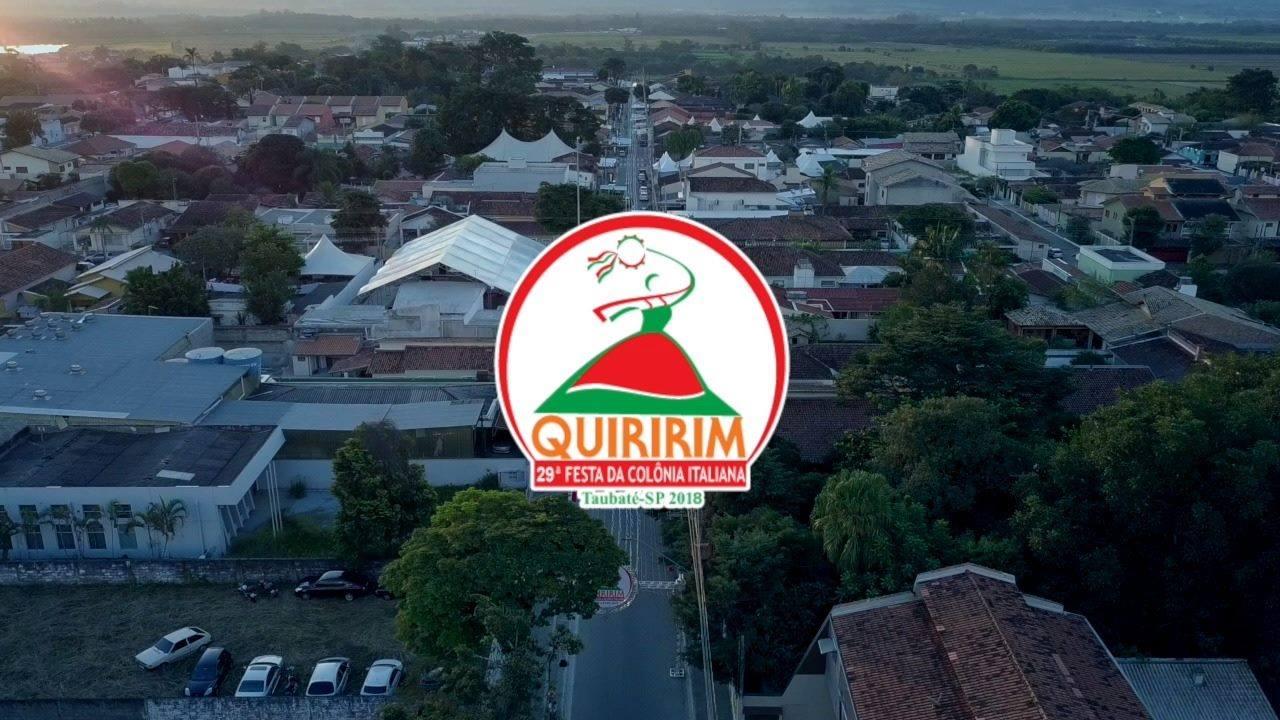 29ª Festa Italiana da Colônia de Quiririm vista de cima.