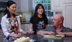 "On ""3 Minutes"" set with Doris Usui and Jordan Paley"