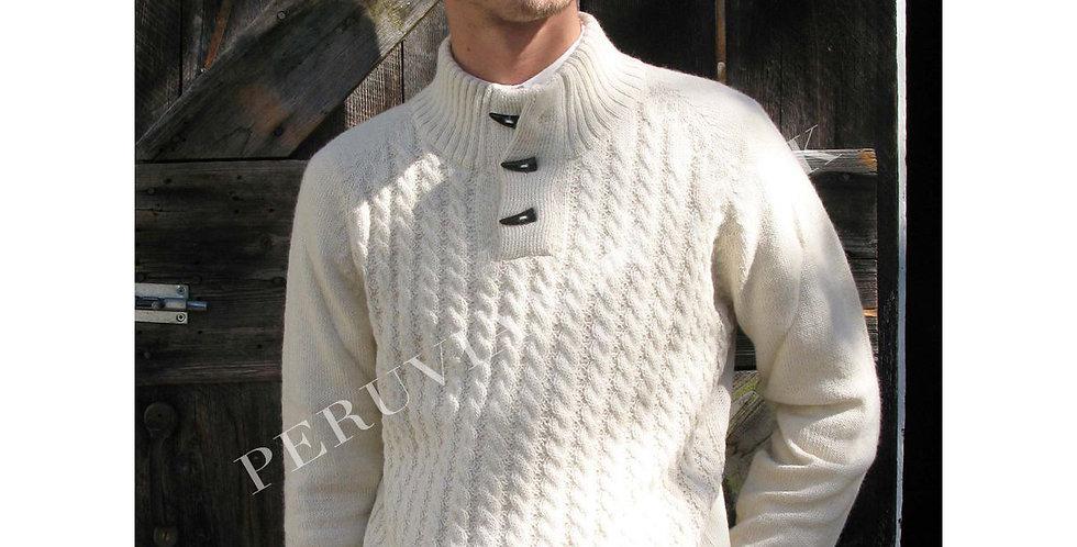 Men's Toggle Alpaca Sweater