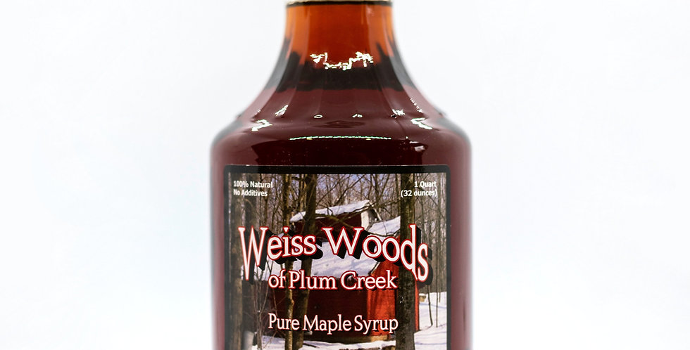 Pure Maple Syrup: 1 Quart (32oz) Glass Container