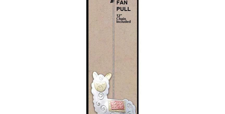 Whimsical Alpaca Fan Pull