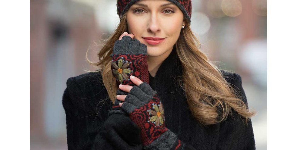 Smokey Mountain Alpaca Fingerless Gloves