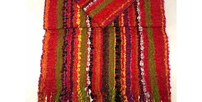 Artisan Textured Alpaca Scarf - Vibrance