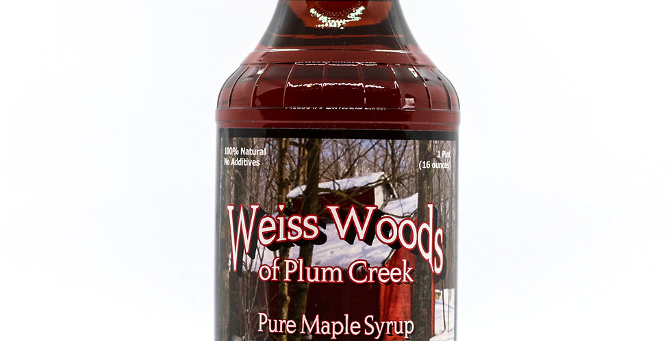 Pure Maple Syrup: 1 Pint (16oz) Glass Container