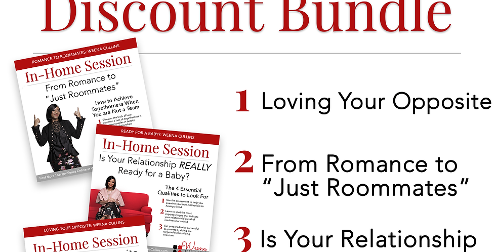 DISCOUNT BUNDLE: Three In-Home Sessions
