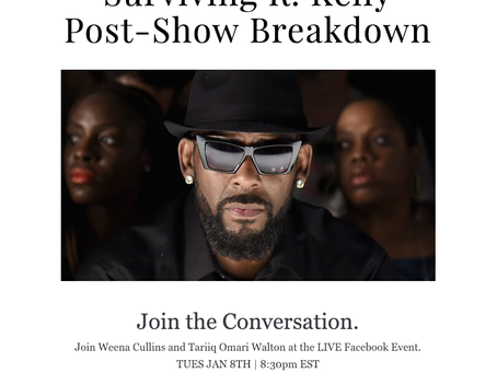 Facebook LIVE Event: Surviving R. Kelly Post-Show Breakdown