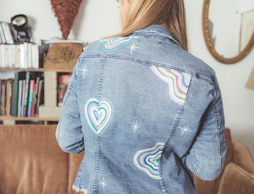 "FBR Denim Jacket "" Chalk Art"""