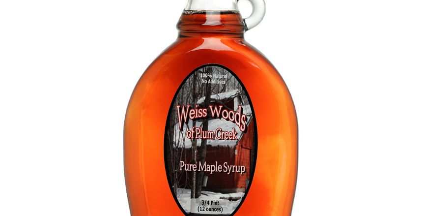 Pure Maple Syrup: 3/4 Pint (12oz) Glass Container