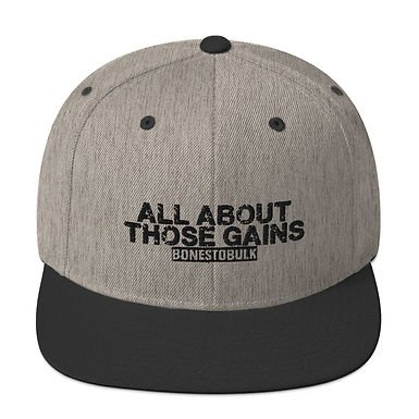 All About Those Gains - Gray and Black - Snap-back Hat