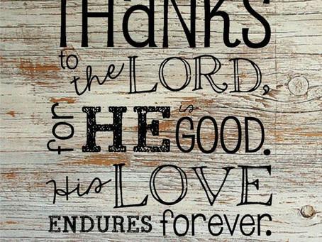 THANKFULNESS - Psalm 136