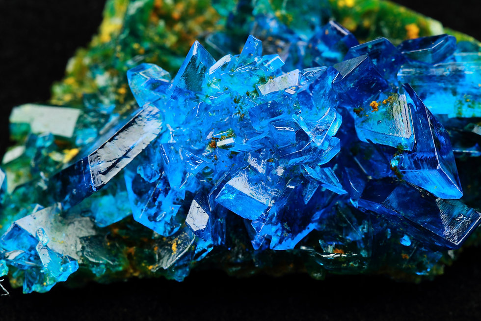 Crystals of blue vitriol - Copper sulfat
