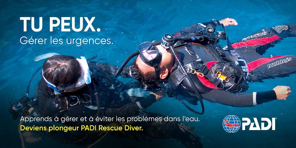Rescue diver padi saphir plongee
