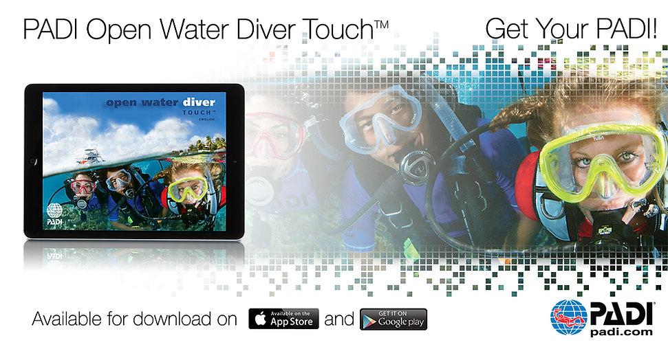 Open Water elearning Touch saphir plongee