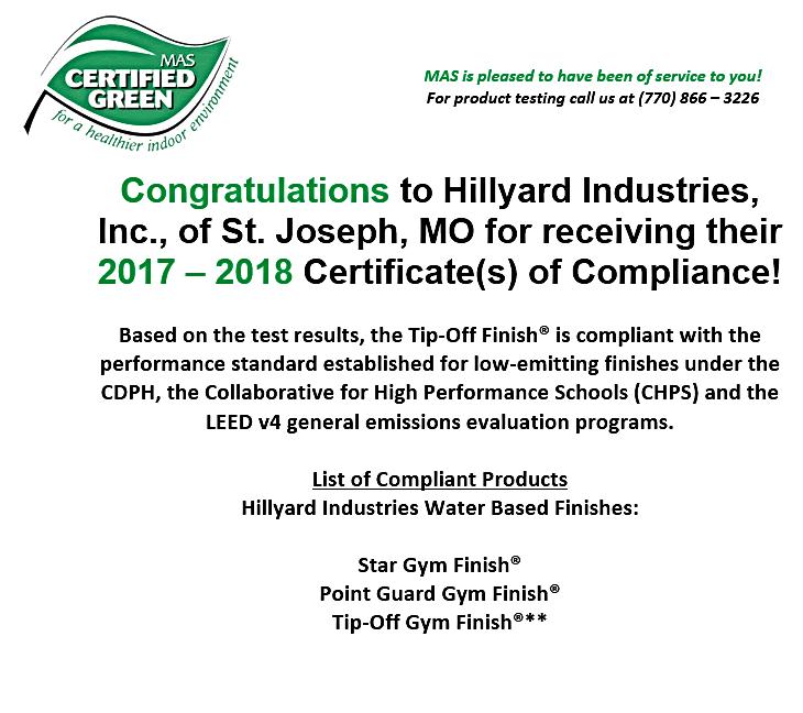 Mas Certified Green Re Certification