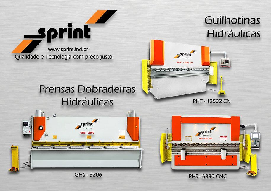 Prensa, guilhotina, hidraulica, PHS, Sprint, CNC