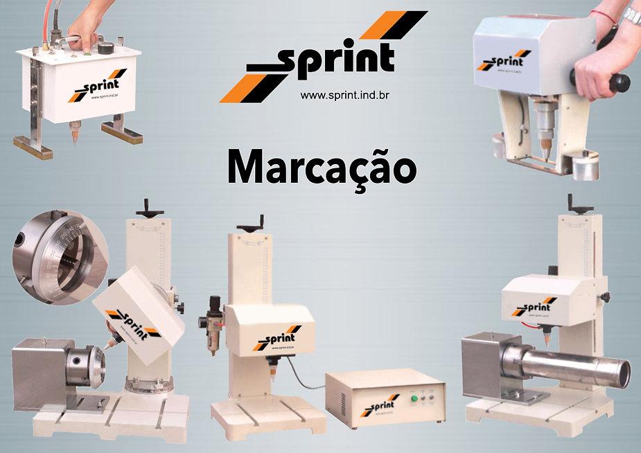 Máquinas, marcação, Sprint, punção