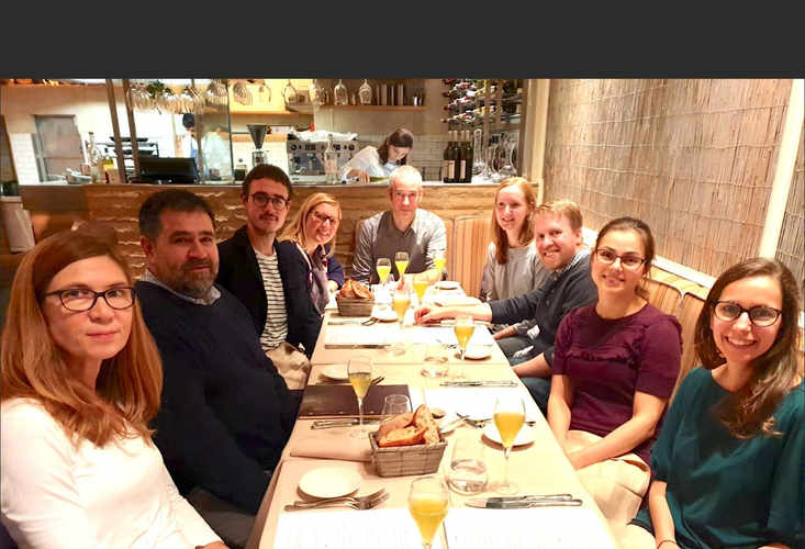 Dinner celebrating a visit from collaborator, Dr. Remco Megens (LMU, Munich) & welcoming Dr. Neil Dufton to the team