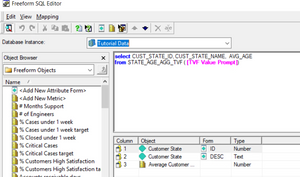 MicroStrategy Freeform SQL with Prompt