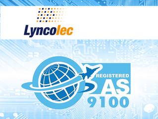 Lyncolec regain AS9100D Accreditation