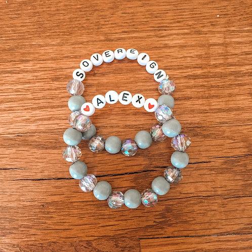 2 Gray Tone Bracelets