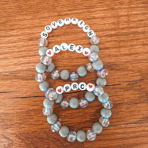 3 Gray Tone Bracelets