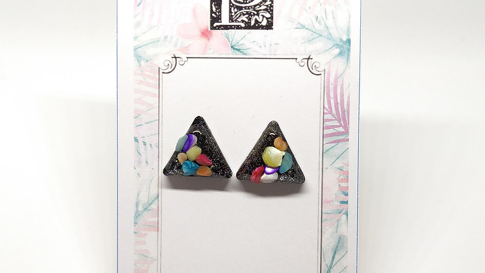 Black Pyramid Earrings