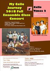 publicity of Ensemble class concert (Nov