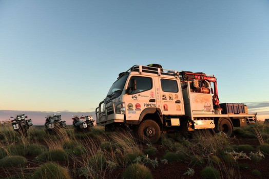 Popeye, Véhicule d'assistance tout terrains de l'agence de voyages extraordimaires T3 En action dans le Bush australien