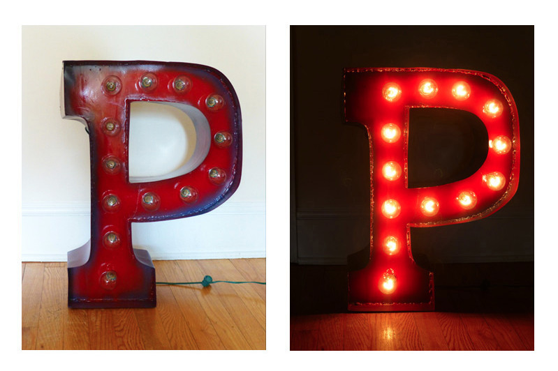 """P"" Marquee"