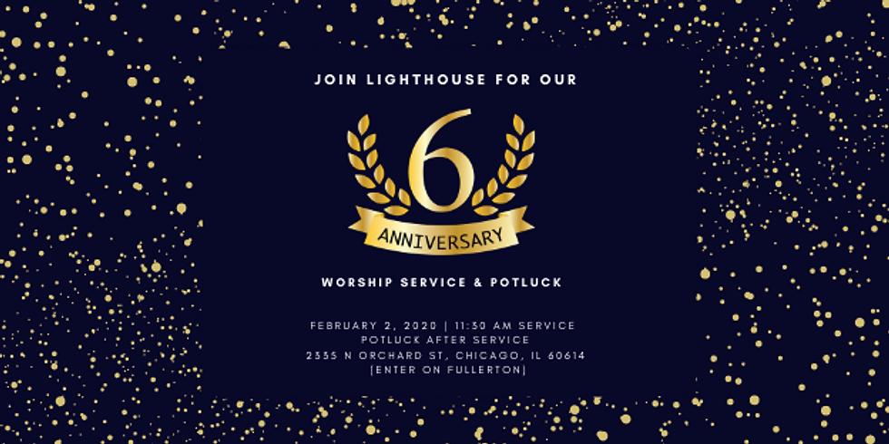 6th Anniversary Worship & Potluck